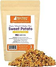 Raw Paws Pet Grain-Free Sweet Potato Training Treats for Dogs - Made in The USA - Vegetarian & Vegan Dog Treats - Natural Sweet Potato Dog Treats - Low Calorie, Gluten Free Puppy Training Treats
