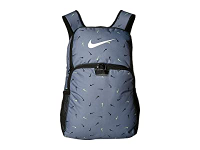 Nike Brasilia All Over Print 2 XL Backpack 9.0 (Cool Grey/Black/White) Backpack Bags