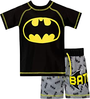 9adf19997 Batman Boys' DC Comics Two Piece Swim Set
