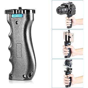 Neewer カメラハンドルグリップ ハンドヘルドスタビライザー 1/4インチネジ付 Canon,Nikon,Panasonic,Sony,Pentax,iPhone 11 pro max/11/xs max/X 8 7 Plus,Samsung S20+ S10,Gopro Hero 8/max/7/6に対応