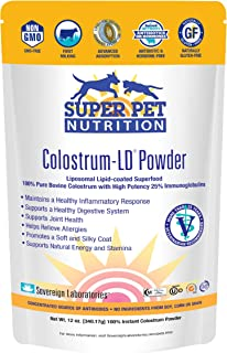 Veterinarian Approved Super Pet Nutrition - for Dogs and Cats - Liposomal Bovine Colostrum, Rich in Immunoglobulins (25%+)...