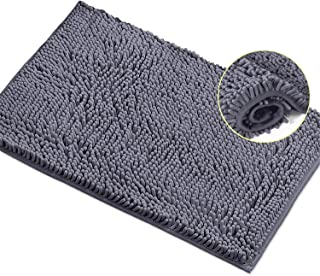 LuxUrux Bathroom Rug Mat -Extra-Soft Plush Bath Shower Bathroom Rug,1'' Chenille Microfiber Material, Super Absorbent Shag...