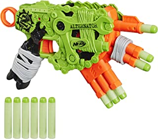 NERF Zombie Strike Alternator Blaster -- Fires 3 Ways -- Includes 12 Official Zombie Strike Elite Darts - for Kids, Teens, Adults