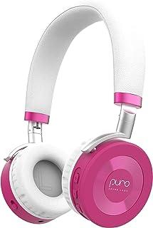 JuniorJams Volume Limiting Headphones for Kids 3+ Protect Hearing – Foldable & Adjustable Bluetooth Wireless Headphones fo...