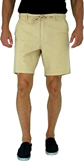 short fin Mens Walking Shorts W/Full Elastic Waist Made with Stretch Cotton