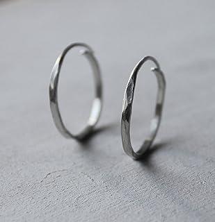 Orecchini in argento, orecchini rotondi, orecchini rotondi, argento strutturato.