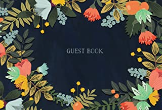Guest Book: Modern Floral Edition