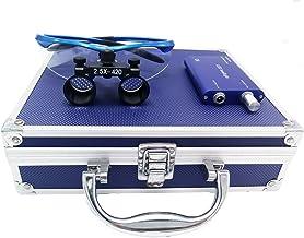 Medische chirurgische bril met optische vergroting van 2,5 × 420 mm en 3 W LED-lampen, inclusief aluminium doos, blauw, 1 ...