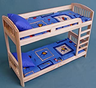 Furniture for Barbie dolls Bunk Bed wooden DOLLHOUSE miniature self-production kit 1:6