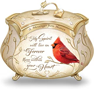 The Bradford Exchange James Hautman A Messenger from Heaven Cardinal Music Box with 22K Gold Accents
