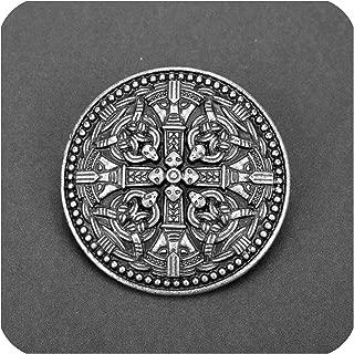 Hot Outlander Brooch Thistle Celtic Knot Kilt Pin Brooch Scottish National Flower Brooches Women Men Viking Norse Jewelry