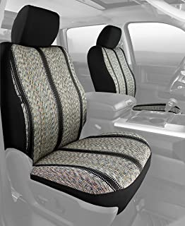 Fia TR48-32 BLACK Custom Fit Front Seat Cover Bucket Seats - Saddle Blanket, (Black)