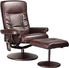 Relaxzen Leisure Recliner Chair with 8-Motor Massage & Heat, Brown