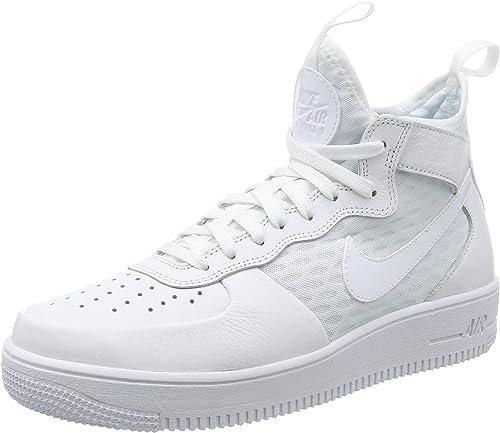NIKE AIR Force 1 Ultraforce MID Mens Fashion-Turnschuhe 864014-100_10.5 - Weiß Weiß-Weiß