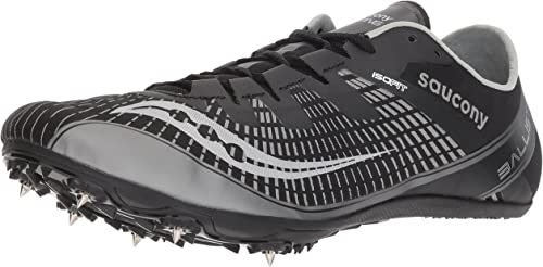 Saucony Men's Ballista 2 Track and Field chaussures, noir argent, 8 Medium US