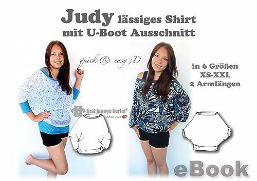 Judy Nähanleitung mit Schnittmuster für Big Shirt Top Gr. 32-52 [Download]