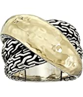 John Hardy - Classic Chain Hammered Crossover Ring