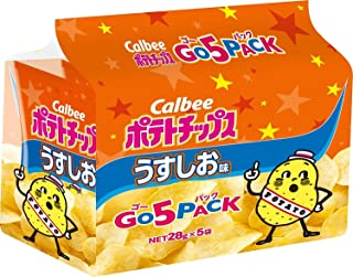 カルビー ポテトチップス うすしお味 ゴー5パック 5袋