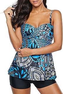 Women's Slimming Tummy Control Swimdress Swimwear Long...