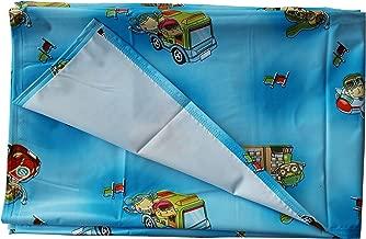 MY NEWBORN® Mattress Protector Plastic Sheet - Water Proof Reusable (36x54 inch, Blue)