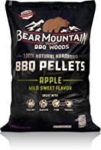 Bear Mountain BBQ 100% All-Natural Hardwood Pellets - Apple Wood (20 lb. Bag) Perfect for Pellet Smokers, or Any Outdoor Grill   Mild Sweet, Smoky Wood-Fired Flavor