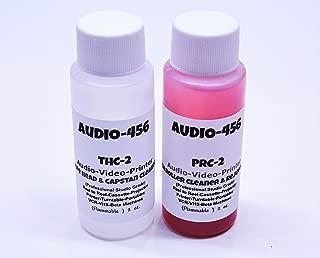 Audio 456 THPR-2 (1) 2 oz Audio 456 Audio/Video Tape Head Capstan Cleaner Fluid & (1) 2 oz Audio 456 Audio Video Pinch Roller Cleaner Rejuvenator Fluid (formerly SR-Audio) Reel to Reel+Cassette+E