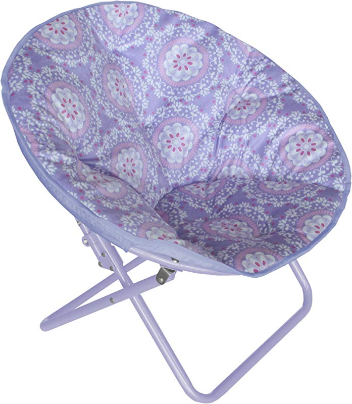 Heritage Kids WK656321 Kids Purple Medallion Printed Saucer Chair