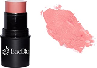 BaeBlu Organic Cheek Tint, 100% Natural Vegan Gluten-Free Cream Blush Stick, Made in USA, Rosé
