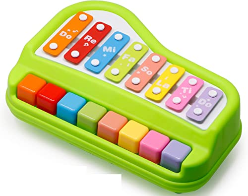Zest 4 Toyz Kid's 2 in 1 Piano and Xylophone Educational Musical Instruments, 8 Key Scales for Clear Tones with Music...