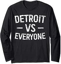 Detroit VS Everyone T-Shirt Funny Michigan Gift Shirt Long Sleeve T-Shirt
