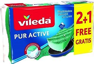Vileda Puractive Med Foam Dish Washing Scourer 2+1 FREE