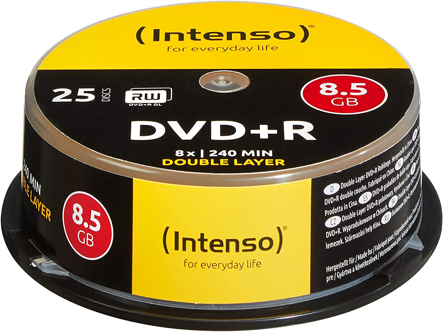 Intenso Dvd R Double Layer Rohlinge 8 5gb 8x Speed Computer Zubehör
