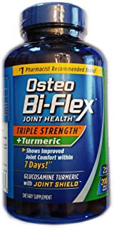 Osteo Bi-Flex, Triple Strength + Turmeric, 200 Tablets, with Glucosamine HCI and Turmeric Curcumin, Joint Supplement for Men and Women