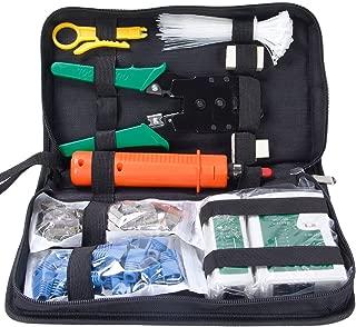 Kits de herramienta de red Red de Profesionales de Mantenimiento de Computadoras LAN Cable Tester 9en 1herramientas de reparación