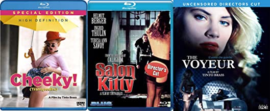 Cheeky, The Voyeur (Uncensored Director's Cut) & Salon Kitty (Director's Cut) Blu-ray Bundle Two From Tinto Collection Master of Italian Erotica
