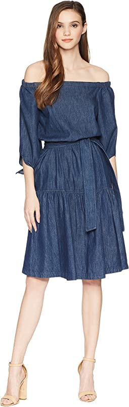 LAUREN Ralph Lauren - Denim Fit-and-Flare Dress