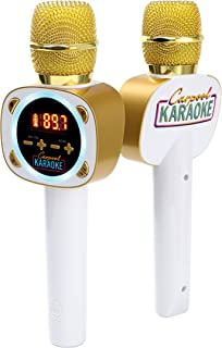 Singing Machine Official Carpool Karaoke, The Mic, Bluetooth Microphone for Cars, White (CPK545)