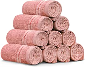 """Washcloths Set - 12"""" x 12"""" 100% Cotton Coral Face Towels Soft and High Absorbent Bathroom Towel, Kitchen Towel, and Gym To..."""