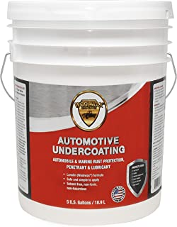 Woolwax Undercoating Protection, Rust Inhibitor and Prevention, Anti Corrosion Multi Purpose Penetrant and Lubricant Lanolin Formula, 5 Gallon Straw Clear Color
