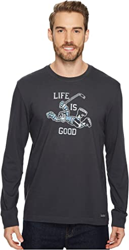 Hockey Score Life Is Good® Long Sleeve Crusher Tee