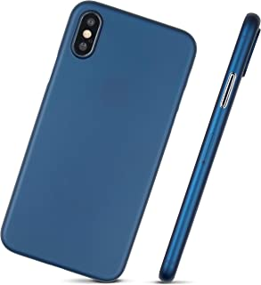 Ultra Thin iPhone Xs Case - Super Thin, Minimalist Design - for Apple iPhone Xs (2018) by MobiTek (Blue)