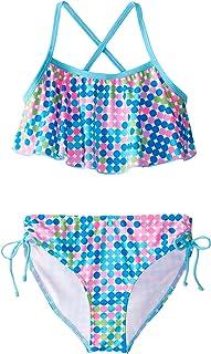 Kanu Surf Girls' Nikki Flounce Bikini Swimsuit