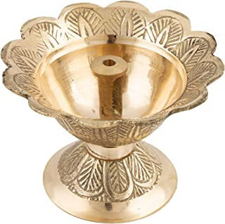 Shubhkart Engraved Golden Lamp