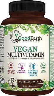 Vegan Multivitamins for Men & Women - Vitamins A , B Complex , C , D3 , Zinc , Magnesium , Spirulina , Antioxidants - Dail...