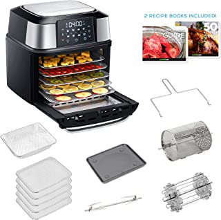 GoWISE USA 17-Quart Air Fryer & Food Dehydrator - 5 Drying Trays plus 6 Additional Accessories - Perfect for Drying Beef J...