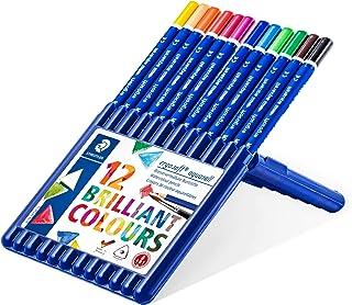 ステッドラー 色鉛筆 12色 三角軸 水彩色鉛筆 エルゴソフト 156 SB12