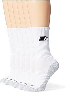 Starter Women's 6-Pack Athletic Crew Socks, Amazon Exclusive