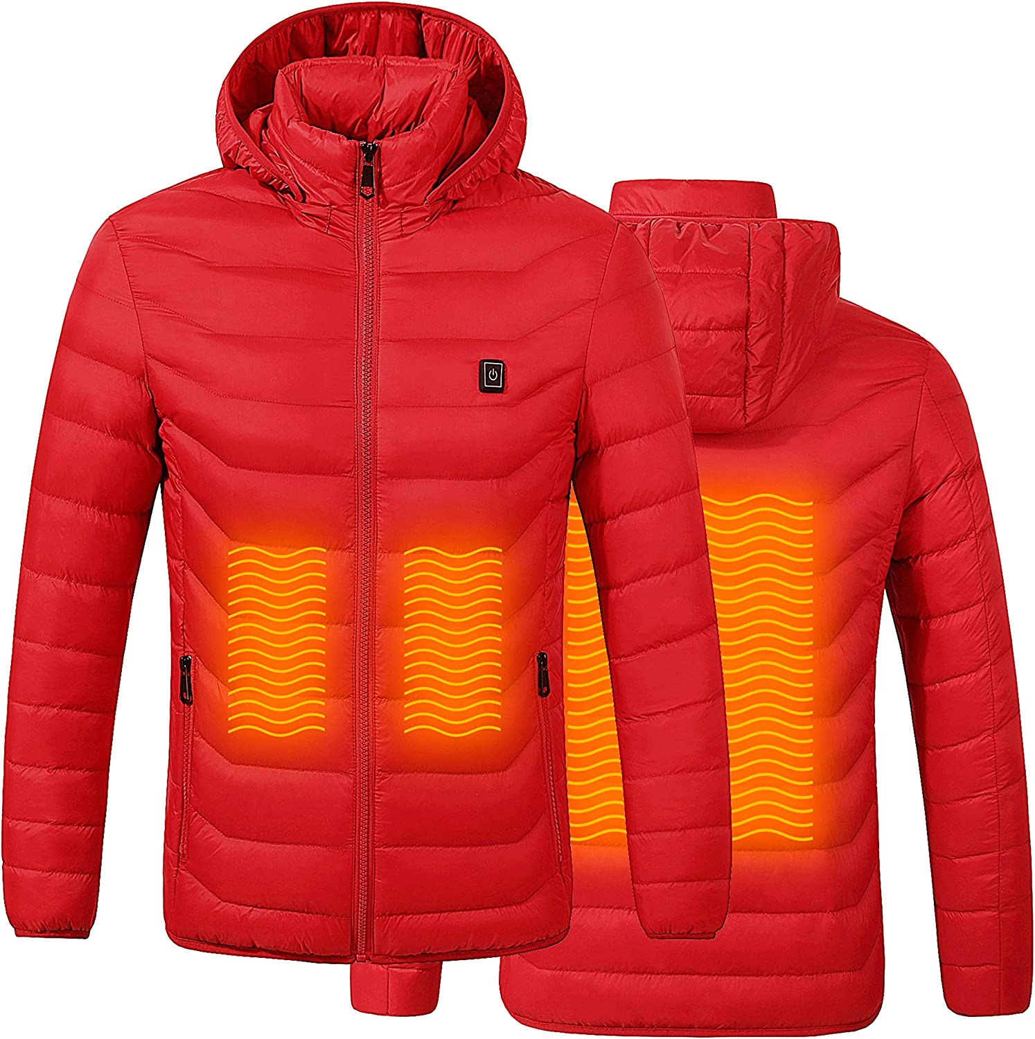 K7 Heated Super Lightweight Jacket for Boys and Girls (Juniors, Teenagers) with Rechargeable Battery Pack Included