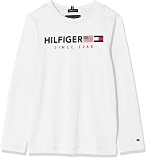 Tommy Hilfiger Flags Graphic tee L/S Camiseta para Niños