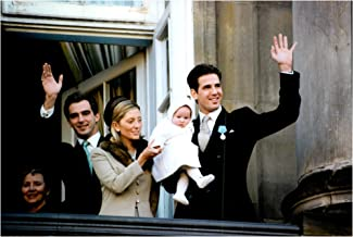 Vintage photo of Margrethe of Denmark's 25th Anniversary as Queen. On the balcony see Prince Nikolaos, Princess Marie-Chantal, Little Maria Olympia and Prince Pavlos of Greece